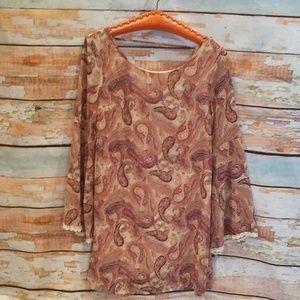 NWT (reminence) Xhileration Boho Bell Sleeve Dress